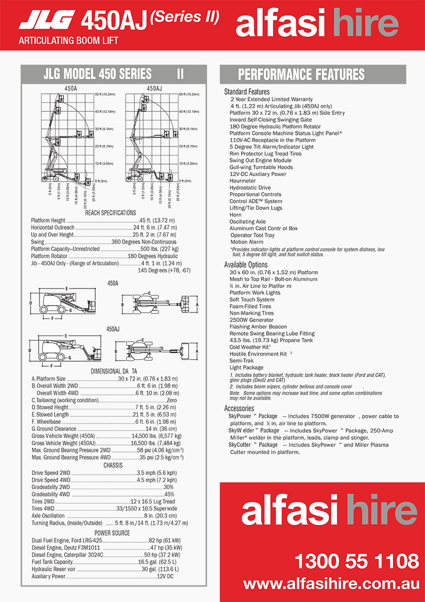 45 Diesel Knuckle Boom Specification