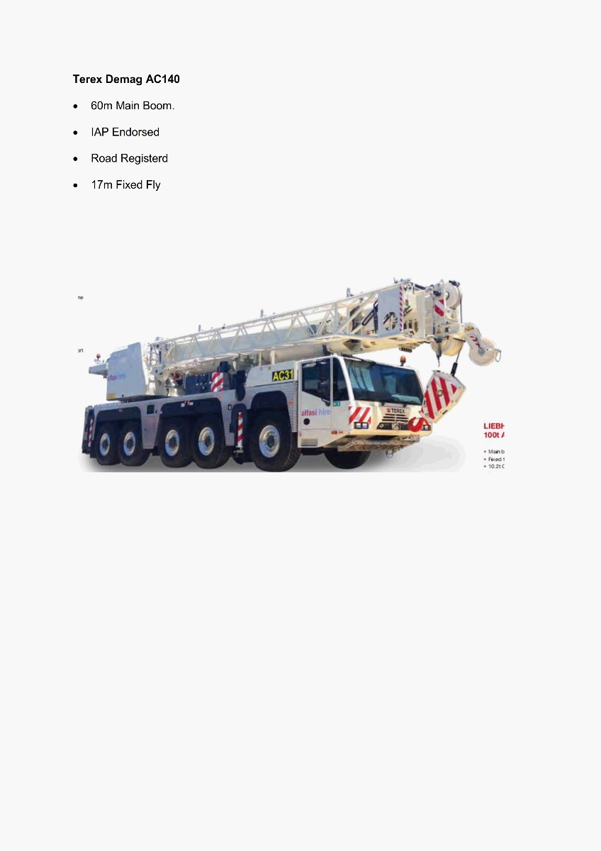 140T All Terrain Crane Features 300