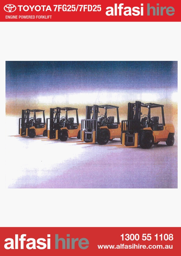 2.5 Electric Fork Lift Features