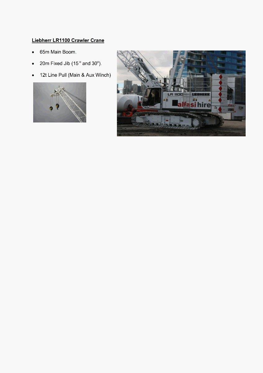 Liebherr LR1100 Crawler Crane_Sepcifications_300