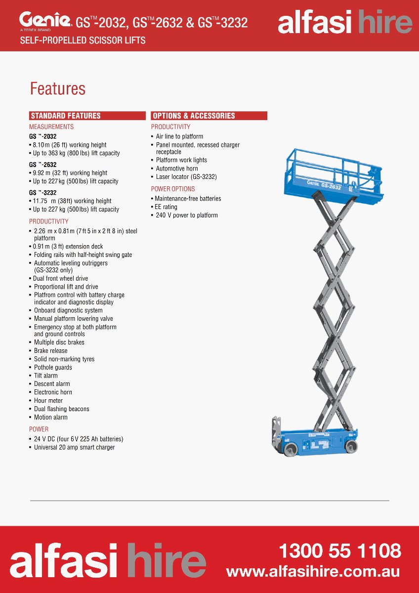 32 Electric Scissor Lift Features