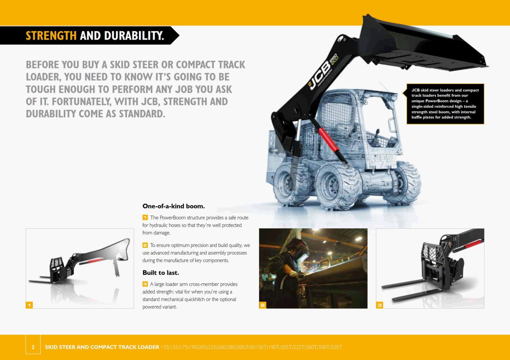 SKID STEER JCB 205T FEATURES