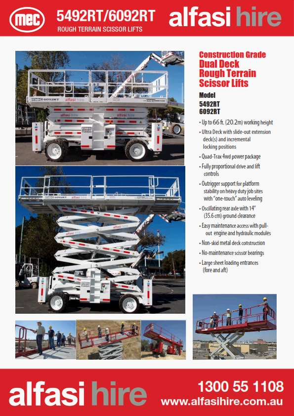 60 Diesel Rough Terrain Scissor Lift Specification
