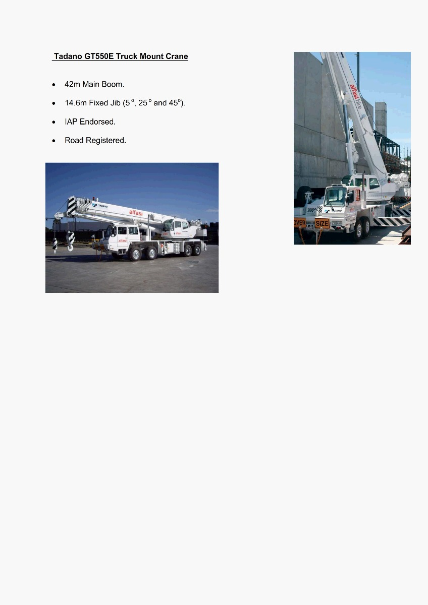 55T Truck Mounted Crane Features 300