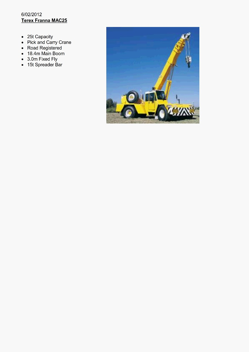 Franna 25T MOB Artic Crane Features 300