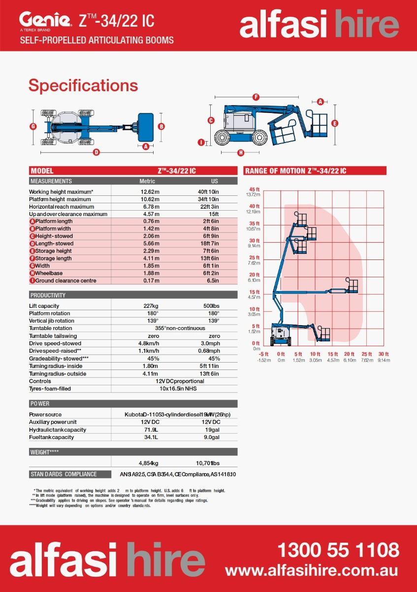 34 Diesel Knuckle Boom Specification
