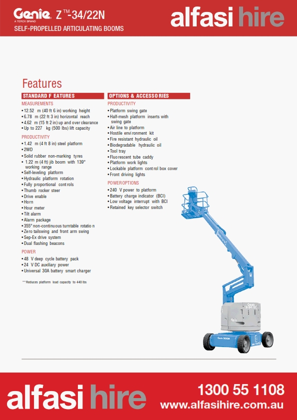 34 Electric Knuckle Boom Features