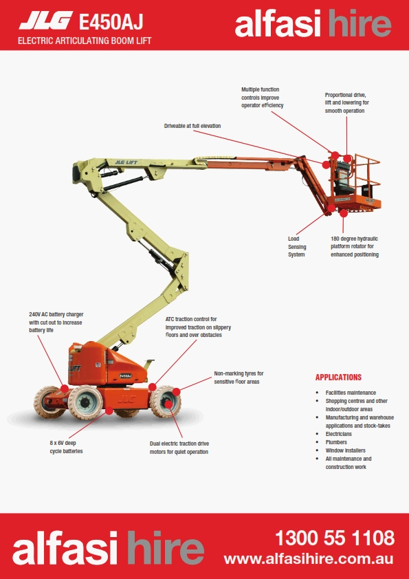 45 Electric Knuckle Boom Features