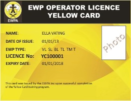 EWPA Yellow Card