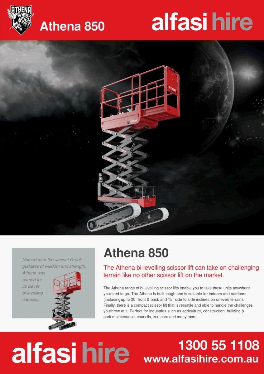 19 ATHENA ROUGH TERRAIN SCISSOR LIFT Features