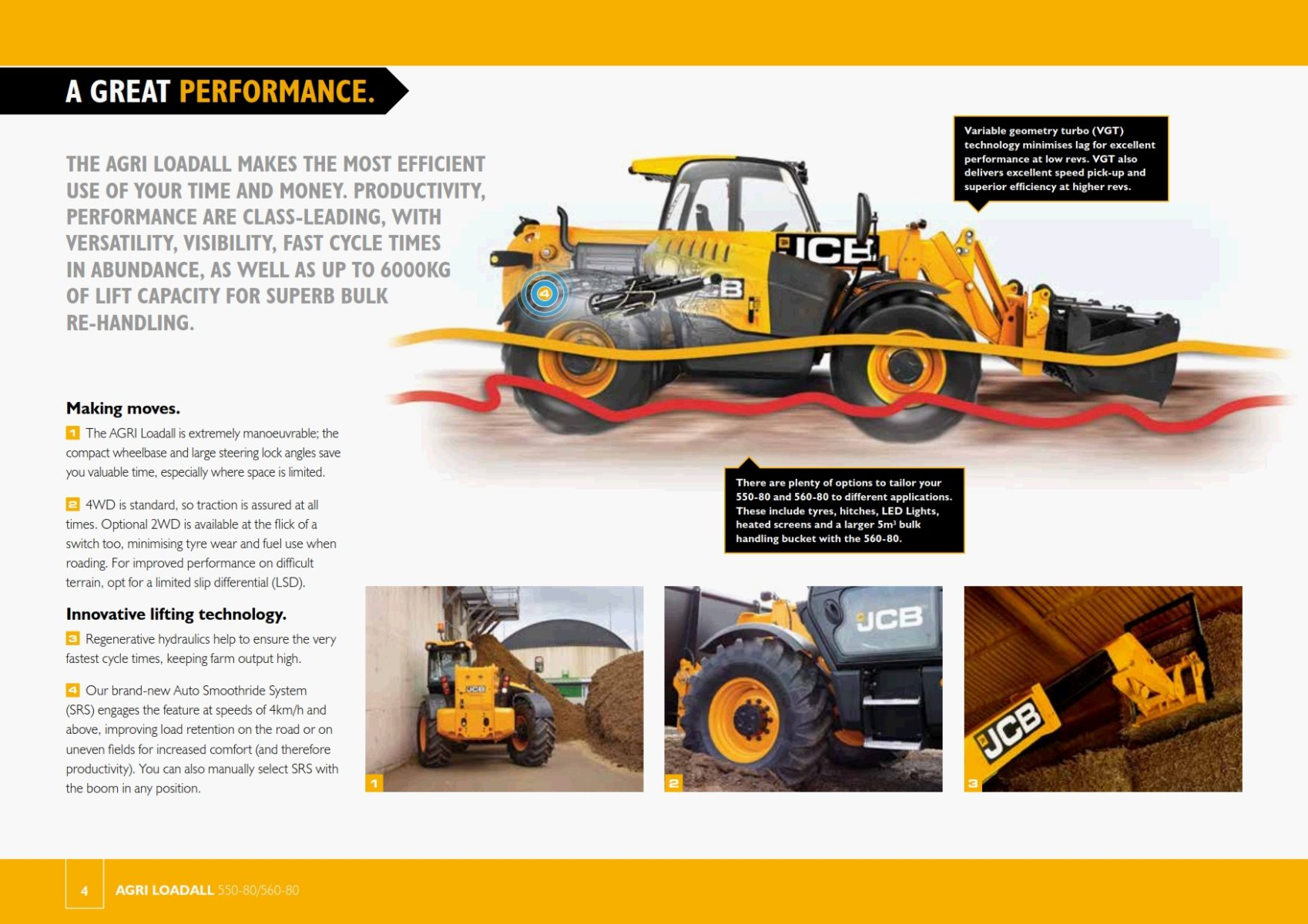 Telehandler JCB 560 80S Features