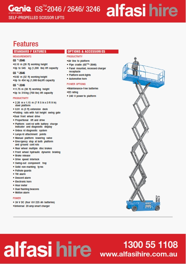26 Electric Sissor Lift Features