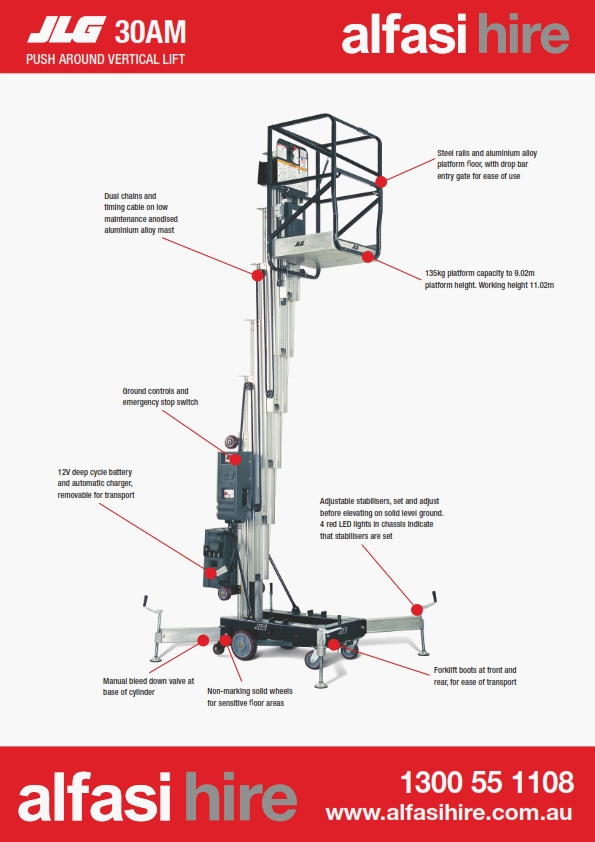 30 Vertical Lift Manual Features